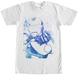 Iron Man- Blue Profile T-Shirt