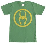 Loki- Helmet Badge T-shirts
