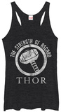 Juniors Tank Top: Thor- Strength Of Asgard Womens Tank Tops