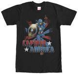 Captain America- Color Burst T-shirts