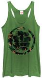 Juniors Tank Top: Incredible Hulk- Tropical Smash Damestanktops