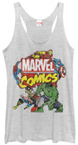 Juniors Tank Top: Avengers- Action Team Distressed Womens Tank Tops