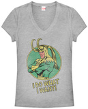 Women's: Loki- Do What I Want V-Neck Womens V-Necks