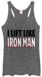Juniors Tank Top: Iron Man- Lift Like Damestanktops