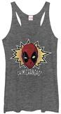Juniors Tank Top: Deadpool- Chimichangas! Damestanktops
