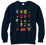 Crewneck Sweatshirt: Marvel- Cast Of Characters T-Shirts