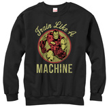 Crewneck Sweatshirt: Iron Man- Like A Machine T-Shirt