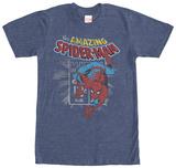 Spiderman- Distressed Stamp T-skjorte