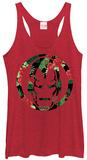 Juniors Tank Top: Iron Man- Floral Iron Damestanktops
