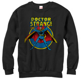 Crewneck Sweatshirt: Dr. Strange- Distressed Hero T-Shirts