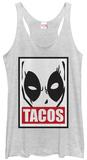 Juniors Tank Top: Deadpool- Tacos Poster Damestanktops