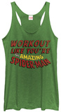 Juniors Tank Top: Spiderman- Great Workout Womens Tank Tops