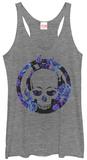 Juniors Tank Top: Ghost Rider- Floral Skull Damestanktops