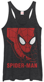 Juniors Tank Top: Spiderman- In Scarlet Damestanktops