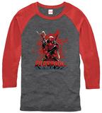 Raglan: Deadpool- Center Of The Action Raglans