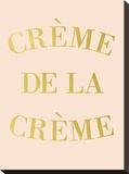 Creme de la Creme Bedruckte aufgespannte Leinwand von  Peach & Gold