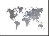 World Map 1 Trykk på strukket lerret av  Ikonolexi