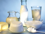Dairy Products, Butter and a Spoonful of Cottage Cheese Photographic Print by Ulrike Koeb