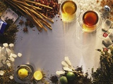 Tea, Tea Leaves, Spices, Sugar Crystals, Lemons and Limes Photographic Print by Peter Rees
