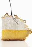 Lemon Meringue Pie with a Fork Photographic Print by Clinton Hussey