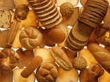 Many Breads, Rolls and Sweet Pastries Photographic Print by Colin Erricson