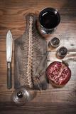 A Still Life Featuring a Fish Skeleton, Pomegranate and Red Wine Lámina fotográfica por  Komar
