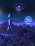 A Grey Alien Located on its Homeworld of Zeta Reticuli Posters by  Stocktrek Images