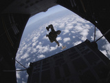 Airmen Jump Out of an Hc-130 Hercules over Djibouti Fotografisk tryk af Stocktrek Images,
