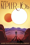 Kepler-16B Orbits a Pair of Stars in This Retro Space Poster Kunst