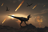 The Last Days of Dinosaurs During the Cretaceous Period Poster von  Stocktrek Images
