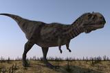Majungasaurus in a Barren Environment Poster di Stocktrek Images,