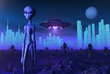 A Grey Alien Located on its Homeworld of Zeta Reticuli Poster av Stocktrek Images,