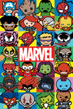 Marvel- Kawaii Characters Kunstdruck