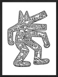 Dog, 1985 Framed Giclee Print by Keith Haring