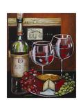 Wine and Cheese III Reproduction procédé giclée par Jennifer Garant