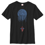 Youth: Spiderman- City Hanging T-Shirt