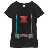Young Girls: Black Widow- Uniform Costume Vêtements