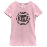 Young Girls: Black Widow- Floral Logo T-shirts