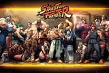 Street Fighter- Characters Plakater