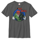 Youth: Red Skull- Circle Badge T-Shirt