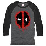 Raglan: Deadpool- Splatter Icon Raglans