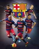 Barcelona- Star Players Affiches