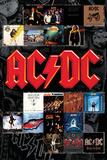 AC/DC- Album Covers Kunstdrucke