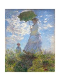 Woman with a Parasol - Madame Monet and Her Son by Claude Monet Giclée-Druck von Claude Monet