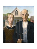 American Gothic by Grant Wood Giclée-Druck von Grant Wood