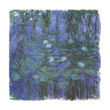 Nymphéas Bleus (Blue Water Lilies) by Claude Monet Giclée-Druck von Claude Monet