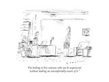 """I'm looking to hire someone who can be acquiescent without making me unco..."" - New Yorker Cartoon Premium Giclee Print by Barbara Smaller"