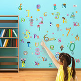 Alphabet and Numbers Wall Decal