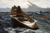 The Fog Warning by Winslow Homer Giclée-tryk af Winslow Homer