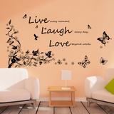 Live Laugh Love Vines Wandtattoo